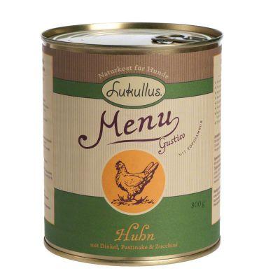 Lukullus Menu Kyckling med dinkel, palsternacka & zucchini – 6 x 400 g