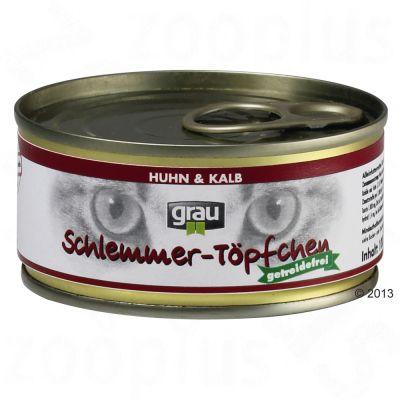 Grau Gourmet spannmålsfritt 6 x 100 g – Kyckling & kalv