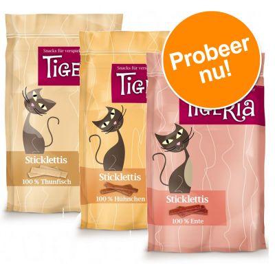 Gemengd Proefpakket Tigeria Sticklettis 3 verschillende smaken