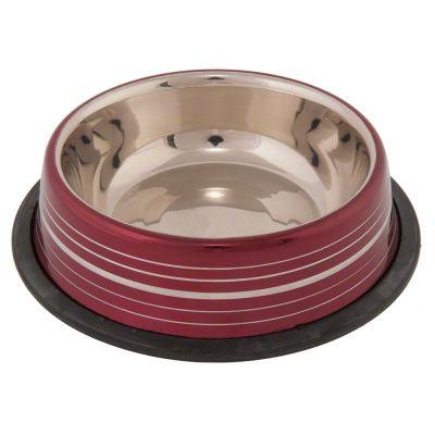 Silver Line bordeaux-röd skål i rostfritt stål – 450 ml, 20 cm