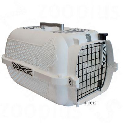 Catit White Tiger Voyageur Transportbur- vit – Storlek XS: L 48 x B 32 x H 28 cm