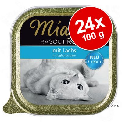 Ekonomipack: 24 x 100 g Miamor Ragout Royale Cream – Anka i örtcrème