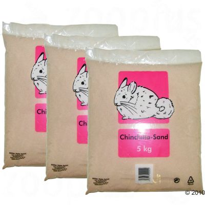 Badsand för smådjur – 3 x 5 kg