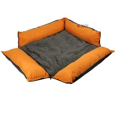 Variabel-koiranpeti, oranssi - P 110 x L 80 cm K 15 cm