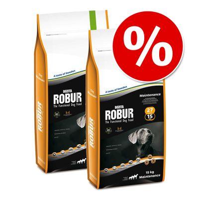 Ekonomipack: 2 x stora påsar Bozita Robur – Genuine Lax & ris 20/10 (12,5 kg)