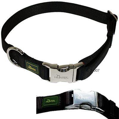 Hunter Vario Basic Alu-Strong halsband, svart – Storlek S: 30 – 45 cm halsomfång