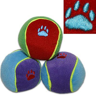 Trixie färgglada leksaksbollar för hundar - 3 st, Ø 6 cm