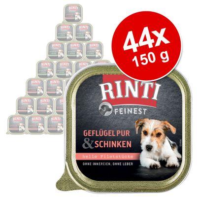 RINTI Finest -säästöpakkaus 44 x 150 g - siipikarja & lohi