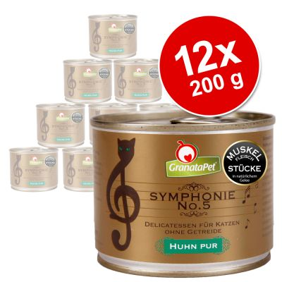 GranataPet Symphonie 12 x 200 g – Vilt & kyckling