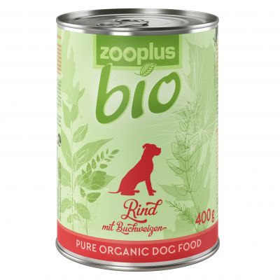 zooplus Bio hovězí s jablkem hruškou 6 x 400 g