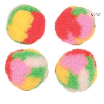 Trixie Pompom bollar med kattmynta – Flerfärgade
