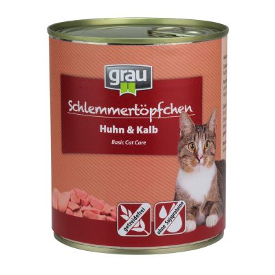 Multipack Grau Schlemmertöpfchen getreidefrei 24 x 800 g