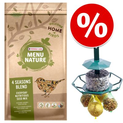 4 kg Versele-Laga Menu Nature 4 Seasons + Premium Feeder erikoishintaan! - 4 kg Menu Nature 4 Seasons + Premium Feeder