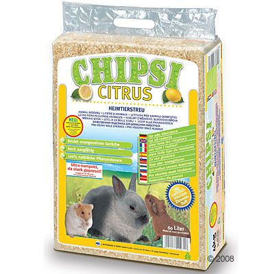 Chipsi Citrus Podściółka dla zwierząt domowych - 3,2 kg (ok. 60 l)