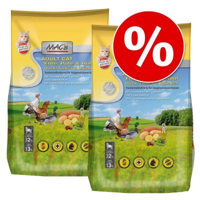 MAC's Cat -säästöpakkaus 2 x 7 kg - Adult Monoprotein Rabbit