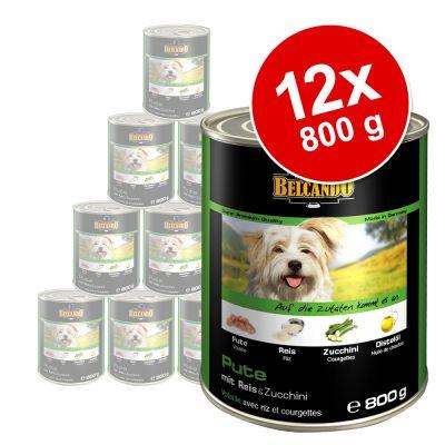 Säästöpakkaus Belcando Super Premium 12 x 800 g - kanaa & ankkaa hirssillä ja porkkanoilla