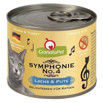 GranataPet Symphonie 6 x 200 g - lohi & kalkkuna