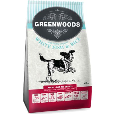 Greenwoods Adult Fish & Rice - 4 kg