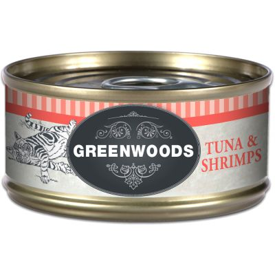 Greenwoods Adult Tuna & Shrimps - 6 x 70 g