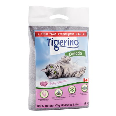 Tigerino Canada Kattenbakvulling - Babypoedergeur - Dubbelpak: 2 x 12 kg