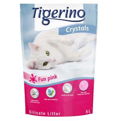 Tigerino Crystals Fun - värikäs kissanhiekka - sininen, 5 l