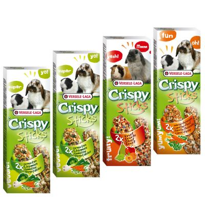 Mixed Pack Versele-Laga Crispy Sticks Herbivores - 4 x 2 Sticks (440g)