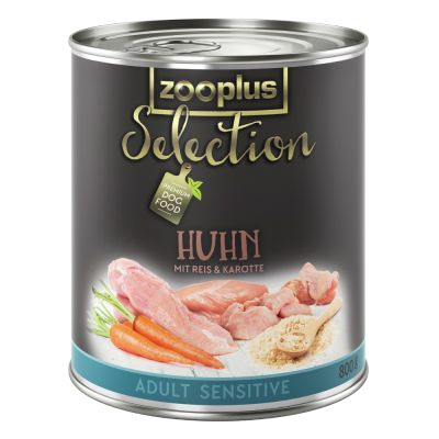 zooplus Selection Adult Sensitive kuřecí rýže 6 x 800 g