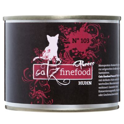 Catz Finefood Purrrr -purkkiruoka 6 x 200/190 g - lajitelma - 6 makua (6 x 200/190 g)