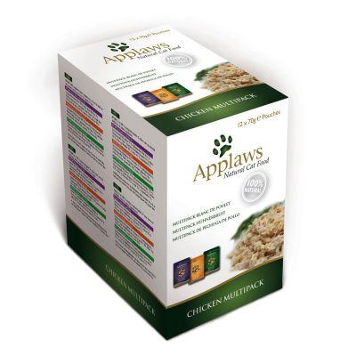 Mixpack Applaws Pouch Katzenfutter in Brühe 12 x 70 g