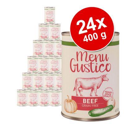 """Lukullus """"Menu Gustico"""" -säästöpakkaus 24 x 400 g - mix: nauta + kalkkuna"""