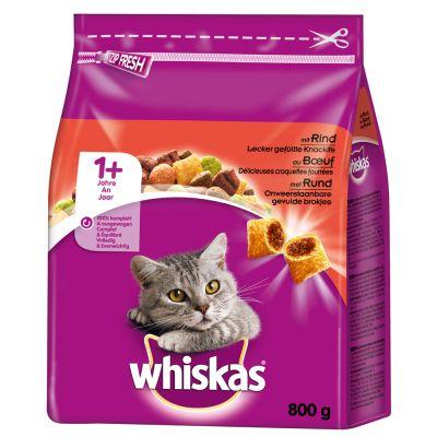 Whiskas 1+ Beef - 800 g