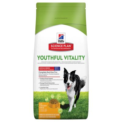 Hill's Science Plan Canine Adult 7+ Youthful Vitality Medium mit Huhn
