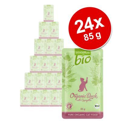 zooplus Bio -säästöpakkaus 24 x 85 g - kana & porkkana