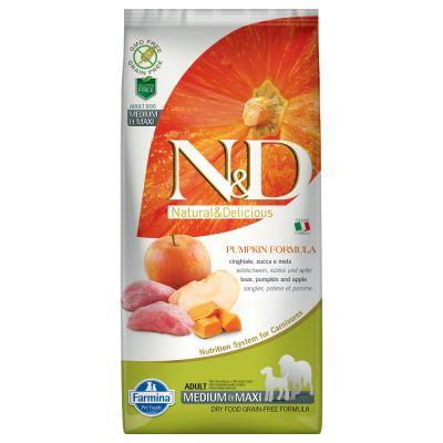 Farmina N&D Pumpkin Grain Free Wild Boar & Apple Adult Medium & Maxi - 12 kg