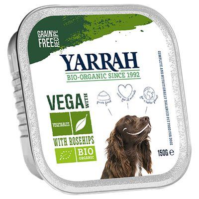 Image of Yarrah Bio Bröckchen Vega mit Hagebutte 12 x 150 g - Vegetarische Chunks mit Gemüse & Bio Hagebutte (vegan)