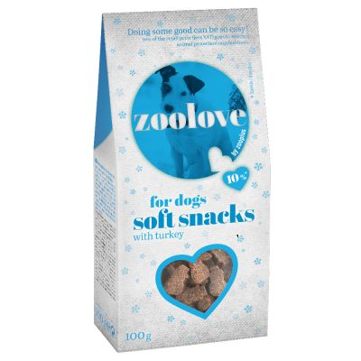 zoolove soft snacks pro psy zimní edice 5 x 100 g