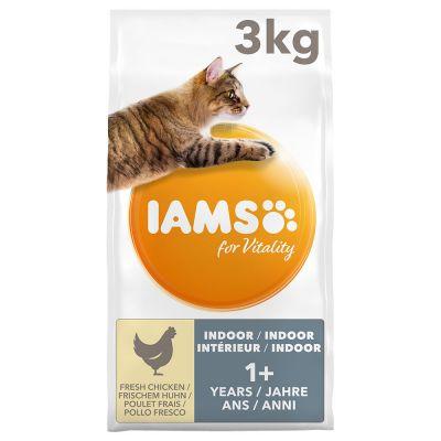 IAMS Vitality Cat Adult Indoor Chicken - 3 kg