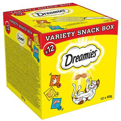 Dreamies Selection Box kana, juusto, lohi - 36 x 60 g säästöpakkaus