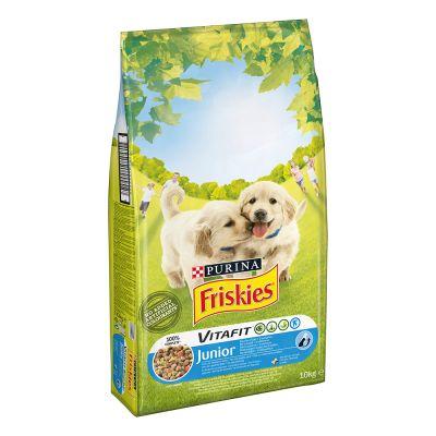 Purina Friskies Vitafit Junior con pollo y verduras - 2 x 10 kg - Pack Ahorro
