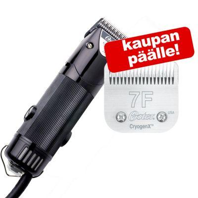 Oster Golden A5 -trimmauskone + terä Nr. 7F (pituus 3,2 mm) kaupan päälle! - trimmauskone, 1-nopeuksinen