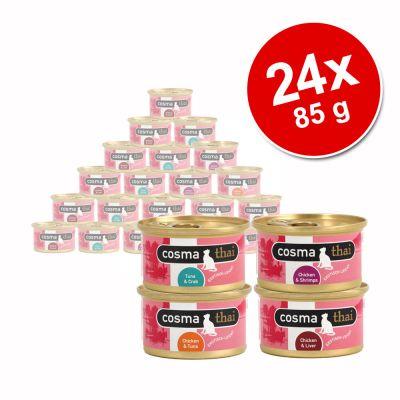 Cosma Thai hyytelössä -säästöpakkaus 24 x 85 g - lajitelma