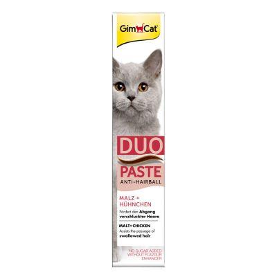 GimCat Duo Paste Anti-Hairball con malta y pollo para gatos - 50 g