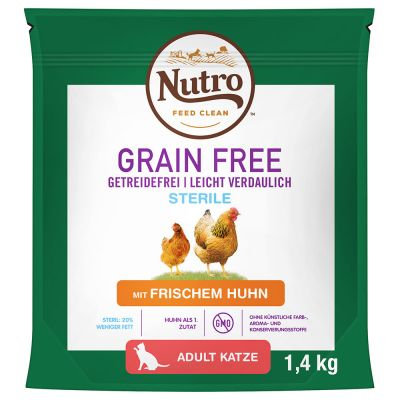 Nutro Grain Free Adult Sterilized Chicken - 1,4 kg
