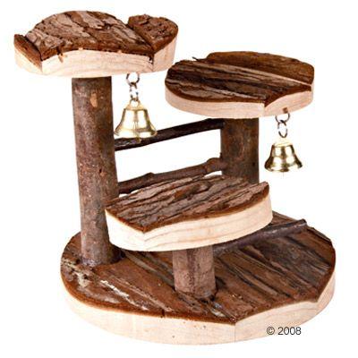 Kiipeilyteline hamstereille, luonnonpuinen - P 15 x L 14 x K 14 cm