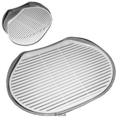 Soft Touch Track Mat -edusmatto kissanvessoille - P 46 x L 33 x K 2 cm, hopea/metallinen