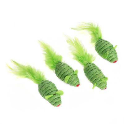 Greeny Toy Mice - 4 Pack