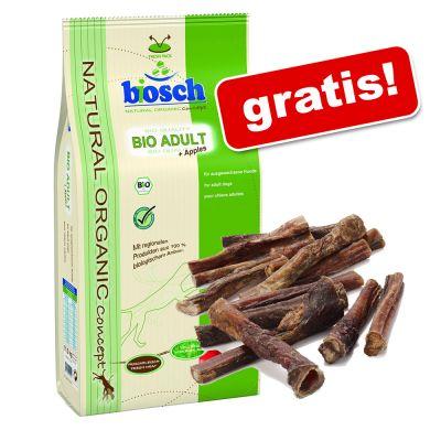 Stor påse Bosch hundfoder +5 st Rocco tjurmuskler på köpet! – Organic Puppy (11,5 kg)