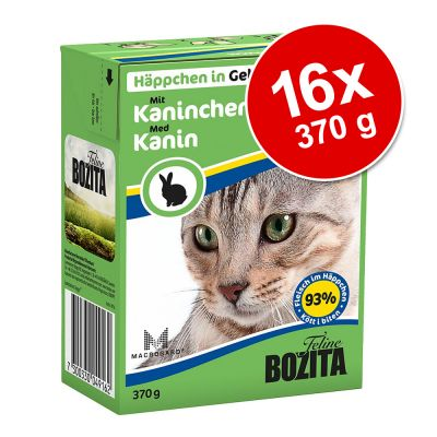 Bozita Chunks in Jelly 16 x 370 g - lohi & simpukka
