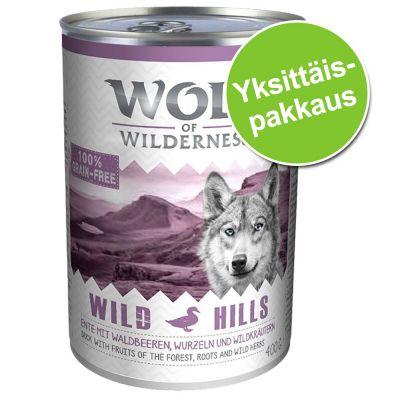 Wolf of Wilderness -yksittäispakkaus 1 x 400 g - Green Fields - lammas