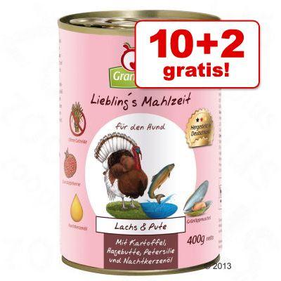 10 + 2 på köpet! 12 x 400 g Liebling's Mahlzeit i blandpack – 12 x 400 g